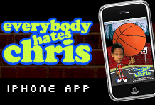 Wireframe Everybody Hates Chris iPhone App